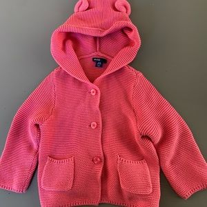 BabyGap 18-24 month pink hooded cardigan
